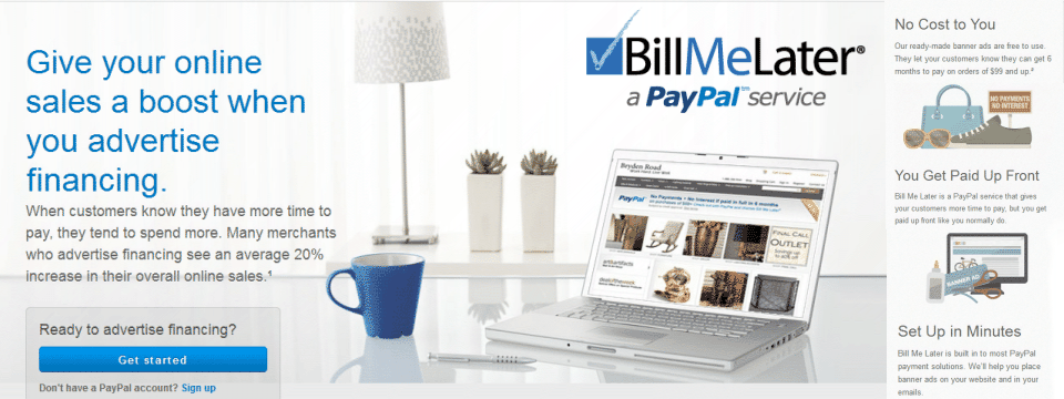 Bill Me Later - PayPal